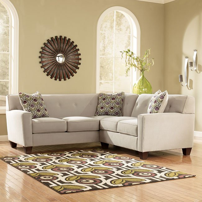 Danielle - Stone Left Sofa Sectional
