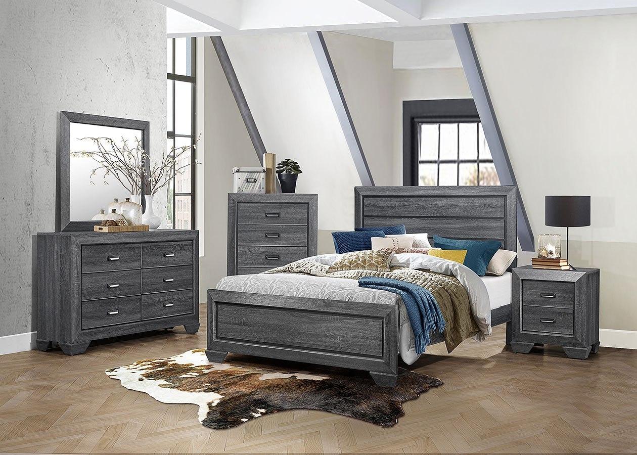 Beechnut Panel Bedroom Set (Gray) Homelegance