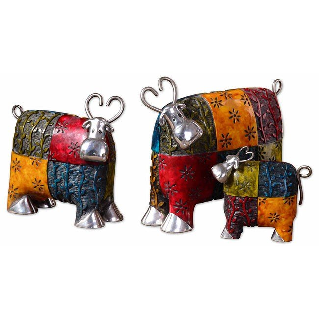 Colorful Cows Accessories (Set of 3)