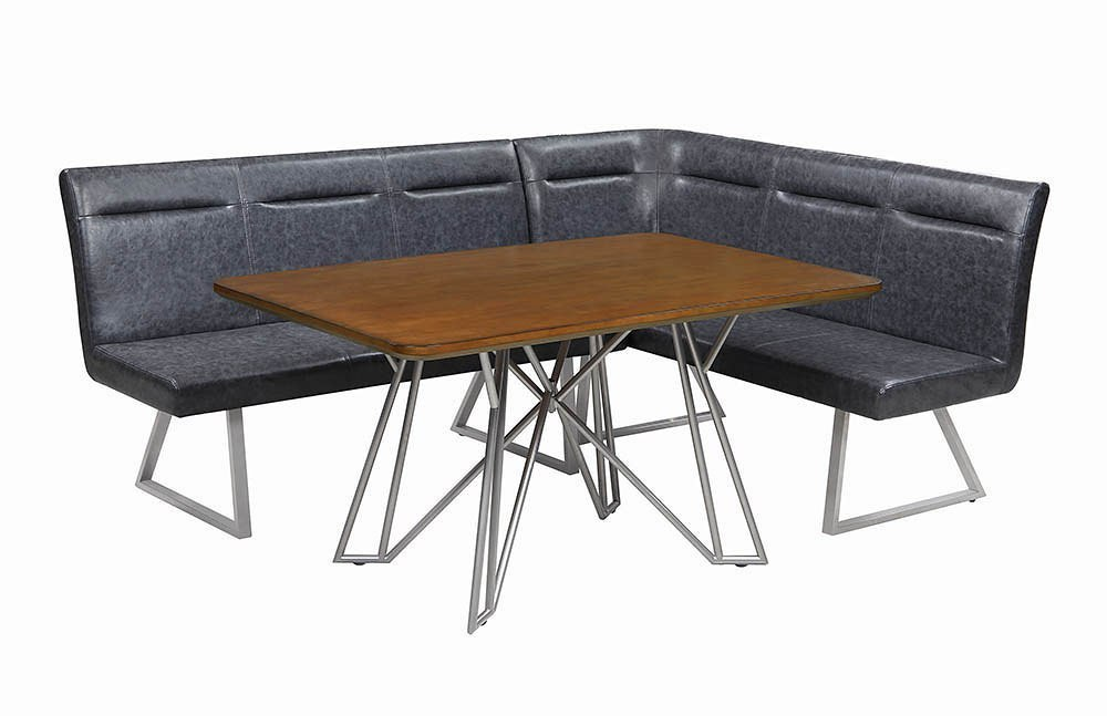 ramsey right facing l shaped corner dining set coaster furniture furniture cart. Black Bedroom Furniture Sets. Home Design Ideas