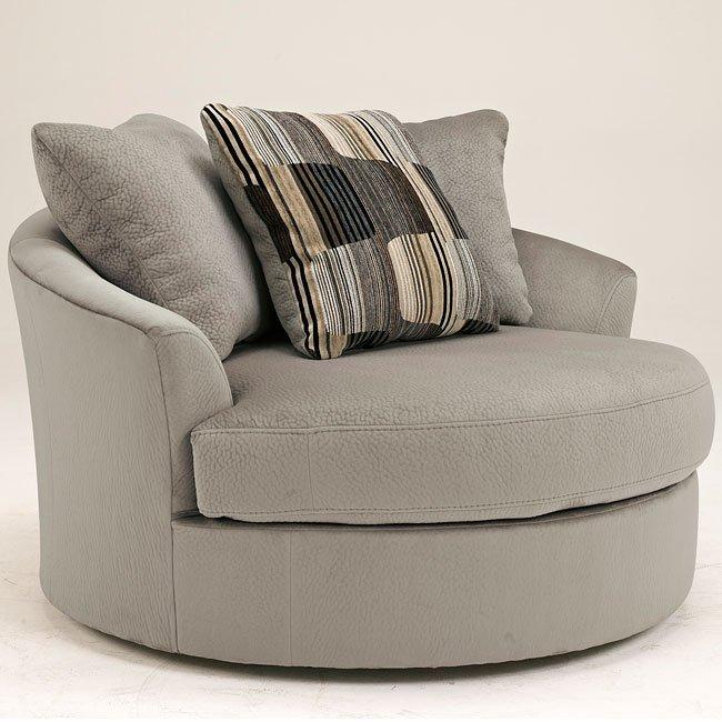 western granite oversized swivel chair benchcraft furniture cart