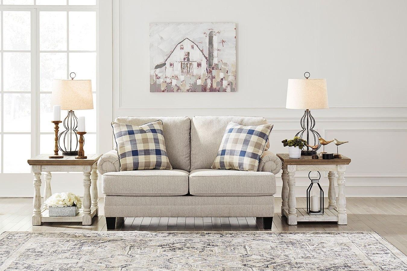 Meggett Linen Living Room Set Benchcraft Furniture Cart