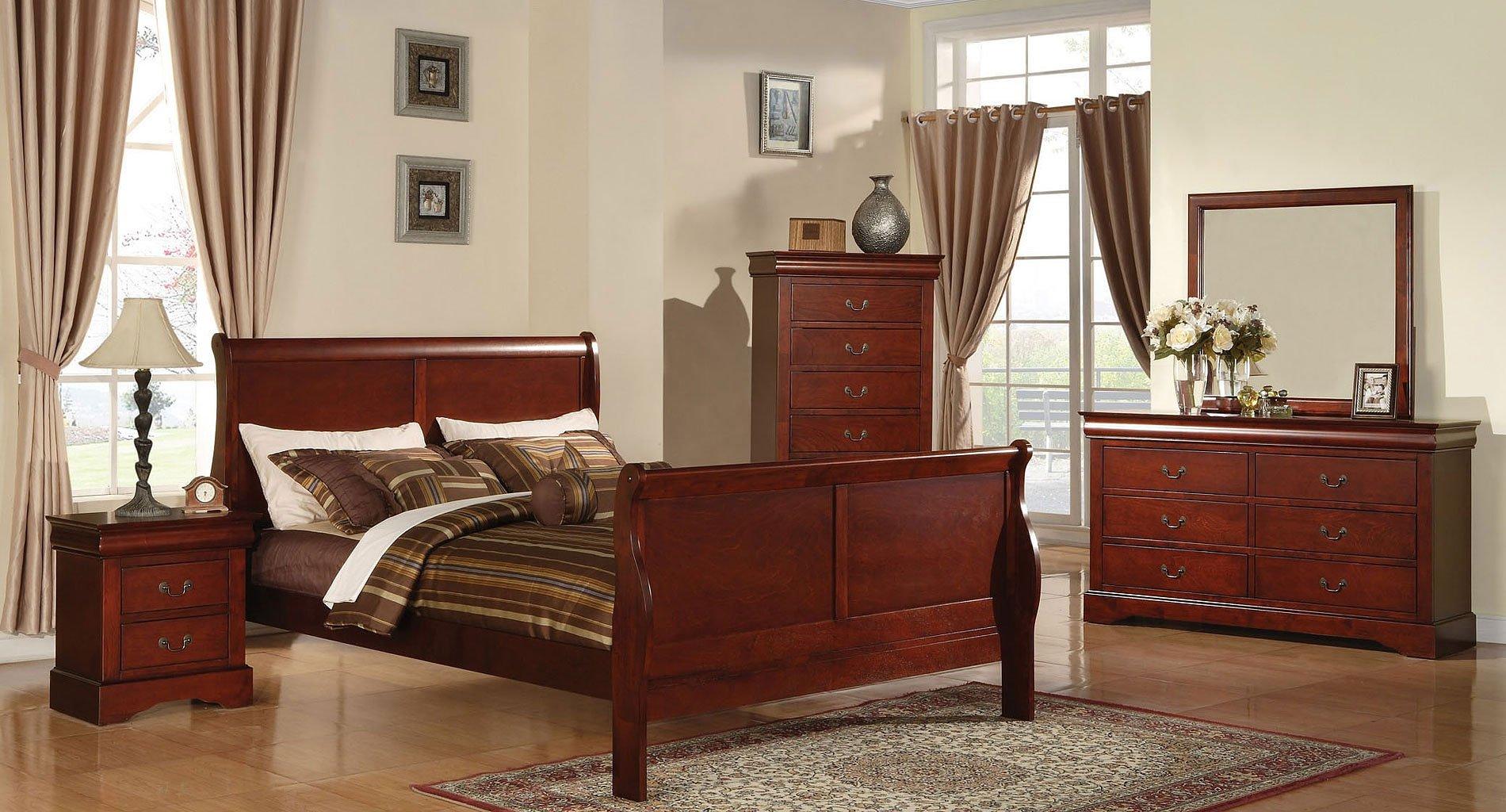 Louis Philippe III Youth Bedroom Set (Cherry) Acme