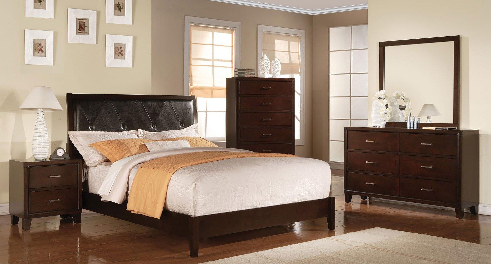Tyler Sleigh Bedroom Set Cappuccino Acme Furniture