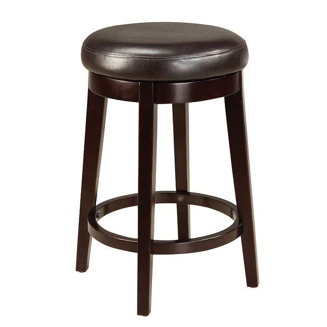 Smart 24 Inch Round Stool Brown Standard Furniture