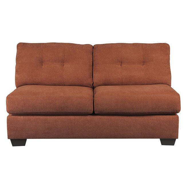Delta City Rust Armless Loveseat By BenchCraft