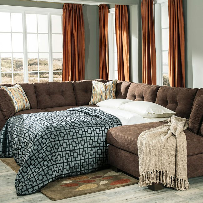 Delta City Chocolate Sectional BenchCraft