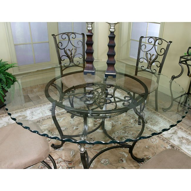 Wescot Round Glass Dining Table