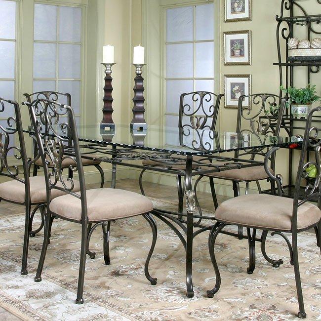 Wescot Rectangular Gl Dining Table