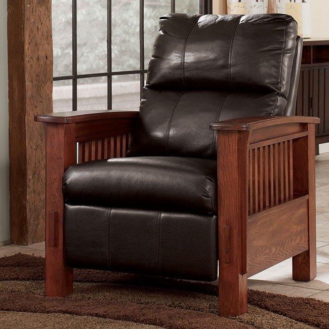 Santa Fe - Chocolate High Leg Recliner