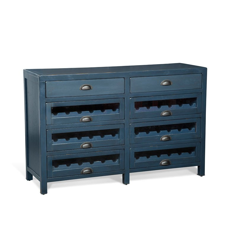 Top Server W Wine Rack: Fountain Pen Blue Server W / Wine Racks Sunny Designs
