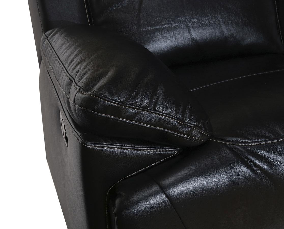 Cortez Dual Reclining Sofa Black New Classic Furniture