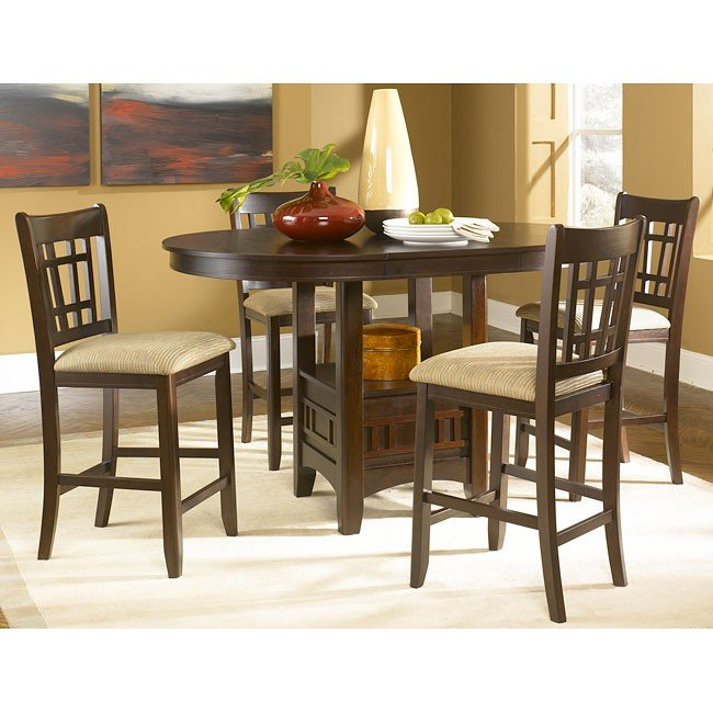 Santa Rosa Counter Dining Room Set (Merlot) Liberty