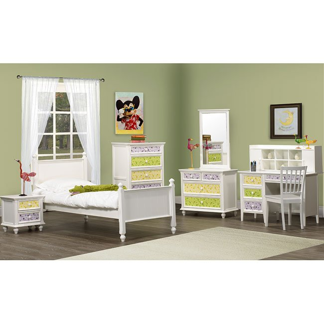 Whimsy furniture Hand Painted Estoyen Whimsy Youth Bedroom Set Homelegance Furniture Cart