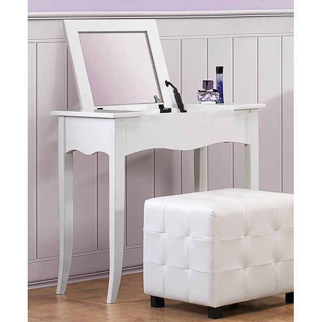 Sparkle Vanity Desk w/ Lift Top Mirror