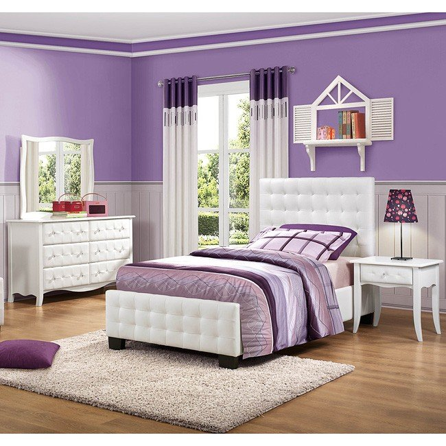 Superieur Sparkle Youth Upholstered Bedroom Set