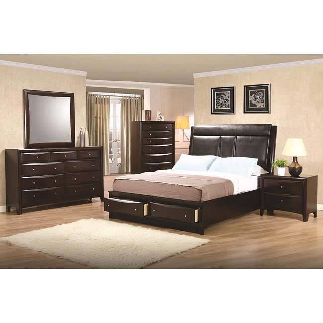Phoenix Storage Bedroom Set Coaster Furniture Furniture Cart