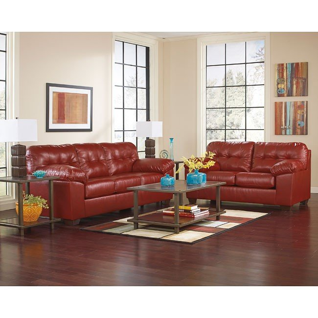 Alliston DuraBlend Salsa Living Room Set