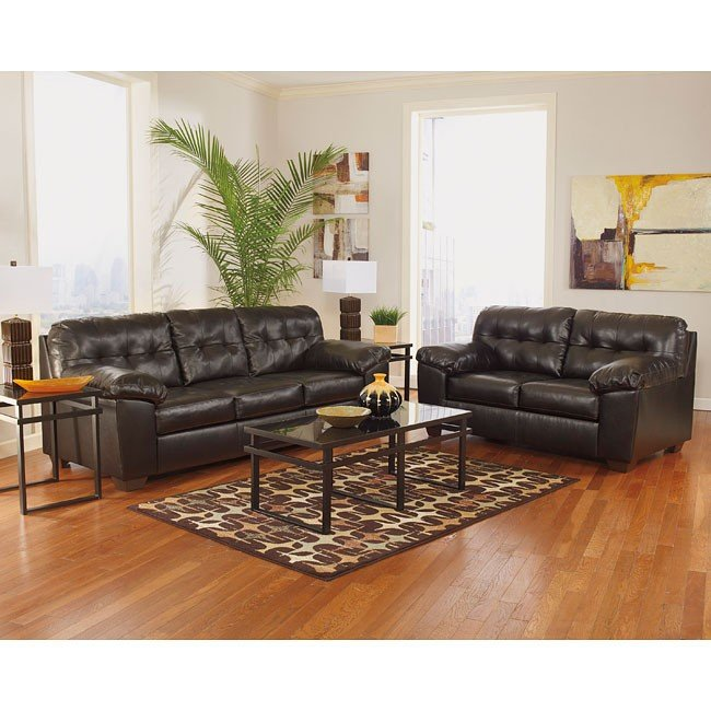 Alliston DuraBlend Chocolate Living Room Set