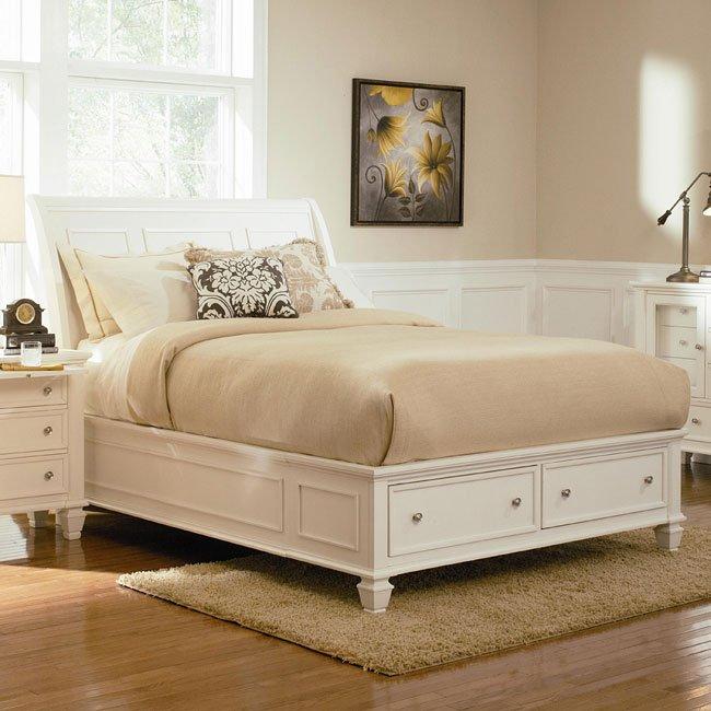 Sandy beach storage bedroom set white coaster furniture 1 reviews furniture cart for Coaster bedroom furniture reviews