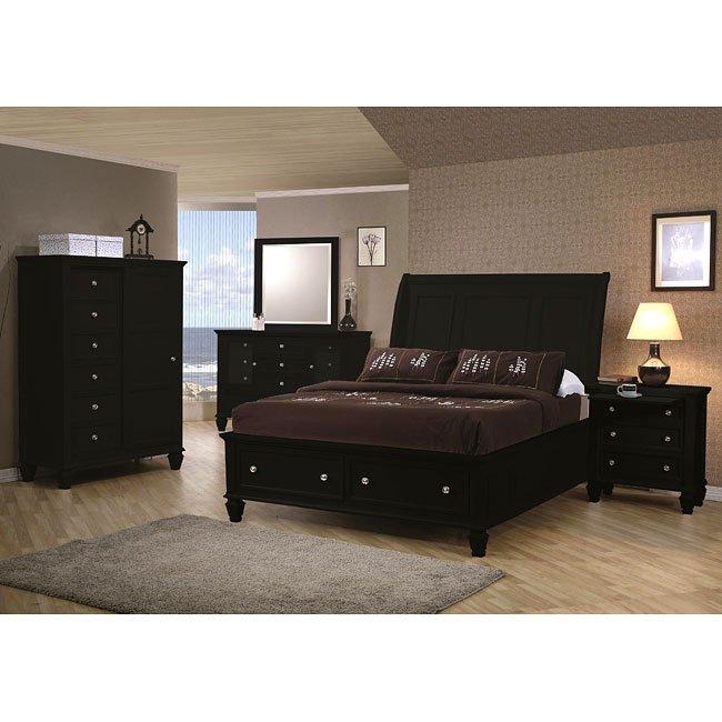 Sandy Beach Storage Bedroom Set Black Coaster Furniture