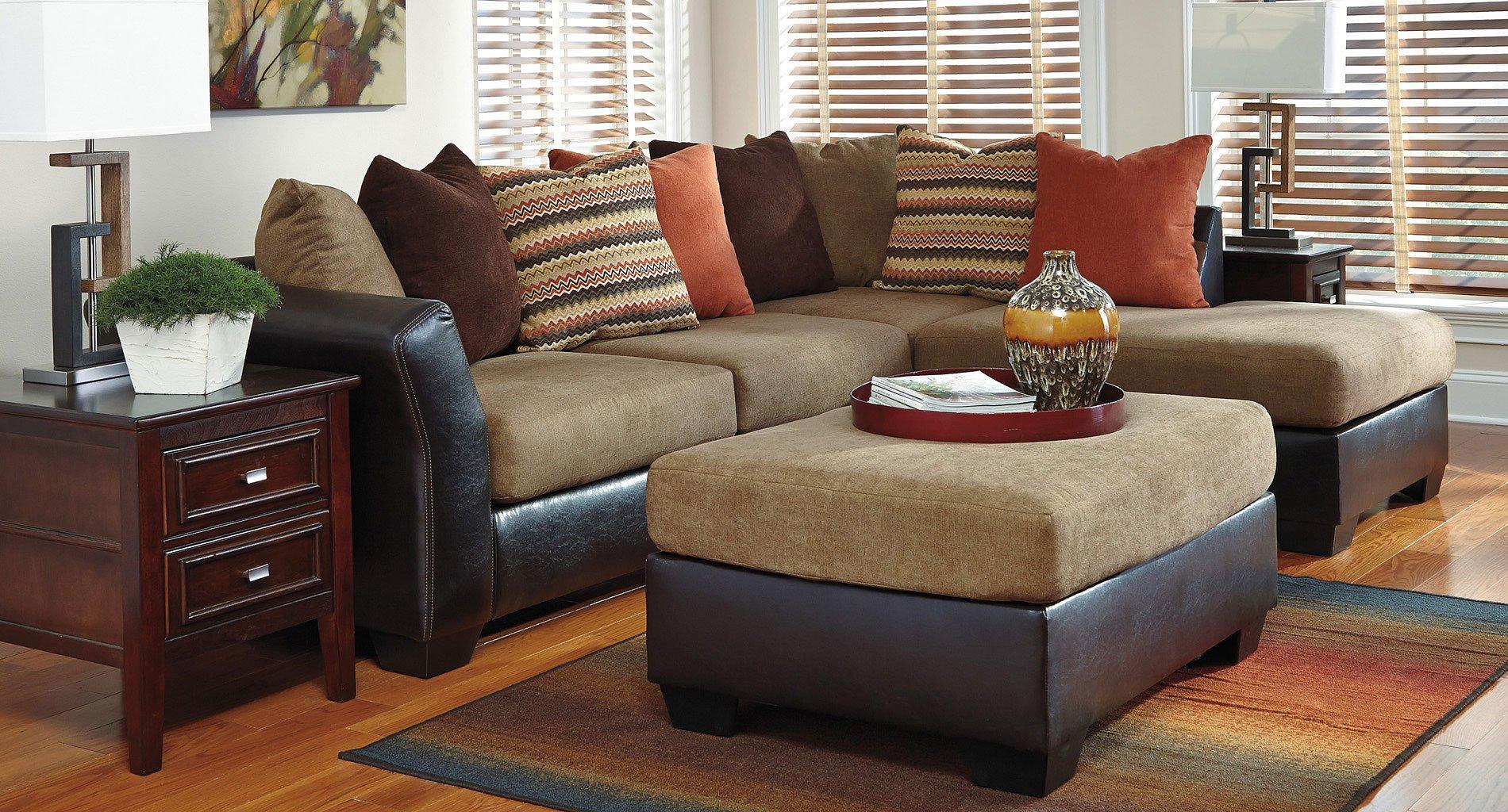 Armant Mocha Sectional Living Room Set Signature Design ...