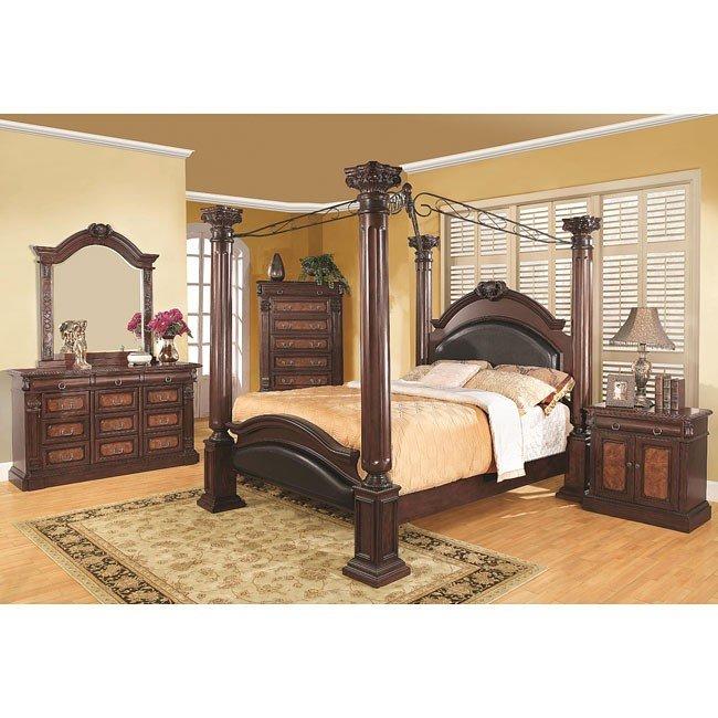 Grand prado canopy bedroom set coaster furniture 1 reviews furniture cart for Coaster bedroom furniture reviews