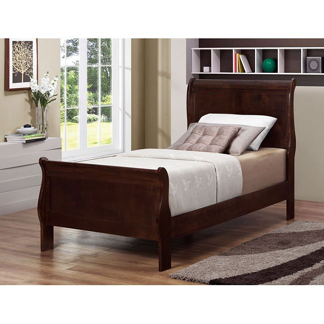 Louis philippe youth bedroom set cappuccino coaster furniture furniture cart for Louis philippe bedroom collection