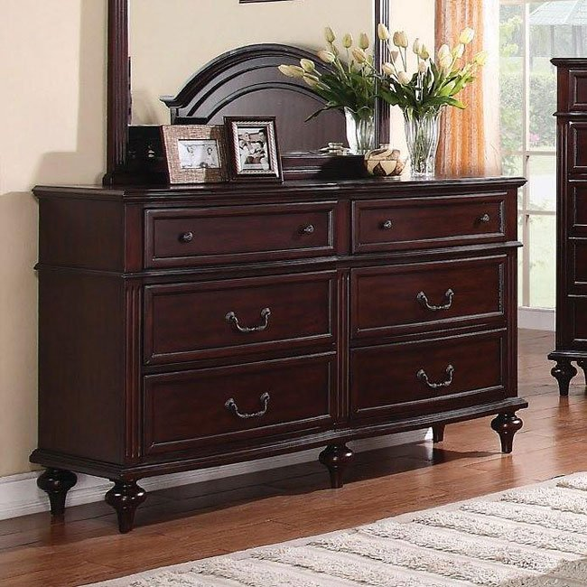 Emilie Bedroom Collection: Emily Bedroom Set (Brown Cherry) Coaster Furniture