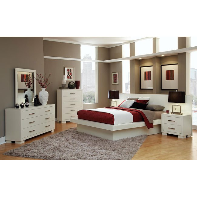 jessica white platform bedroom set - Platform Bedroom Sets