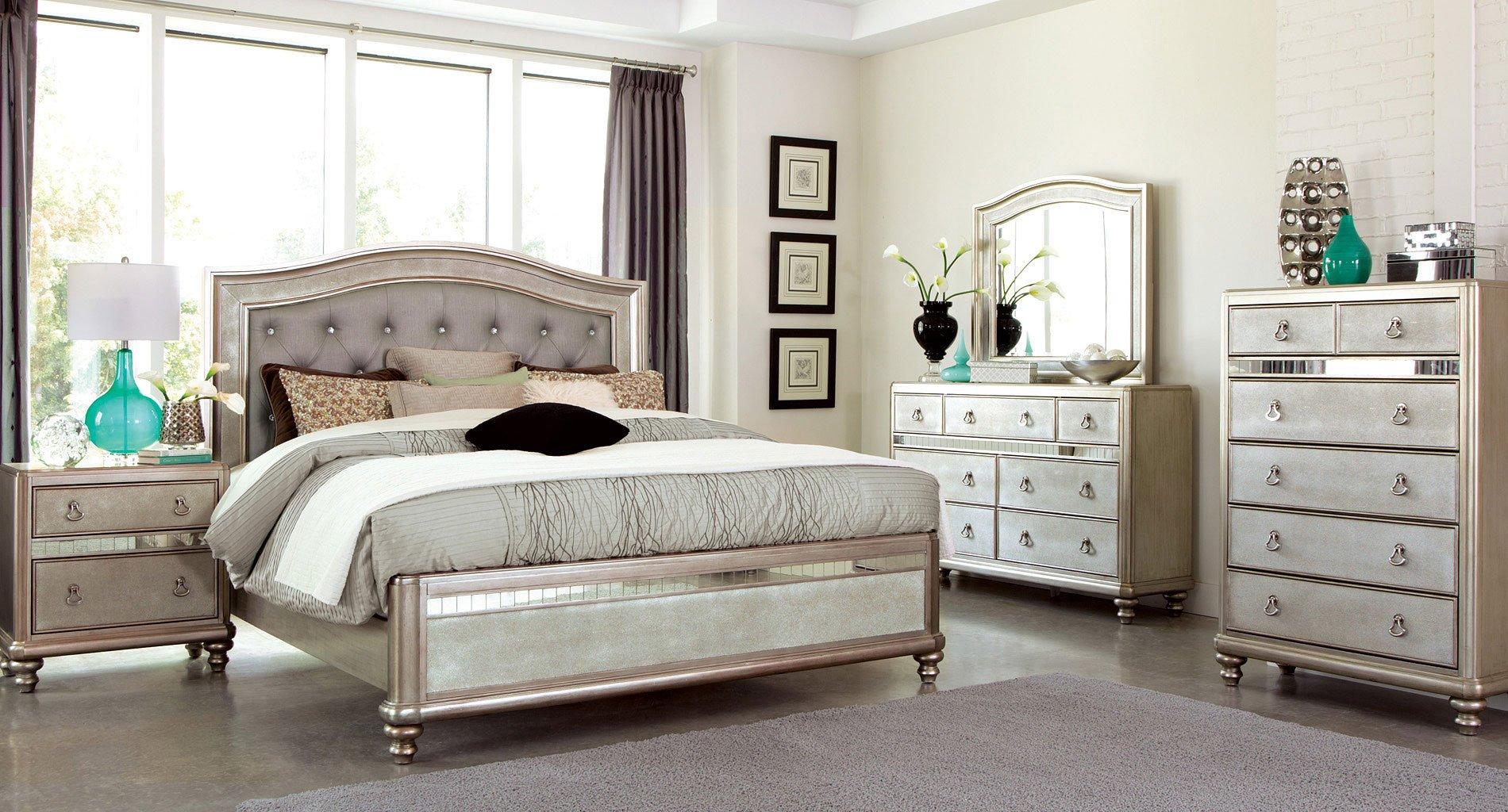Bling game panel bedroom set coaster furniture 3 reviews furniture cart for Coaster bedroom furniture reviews