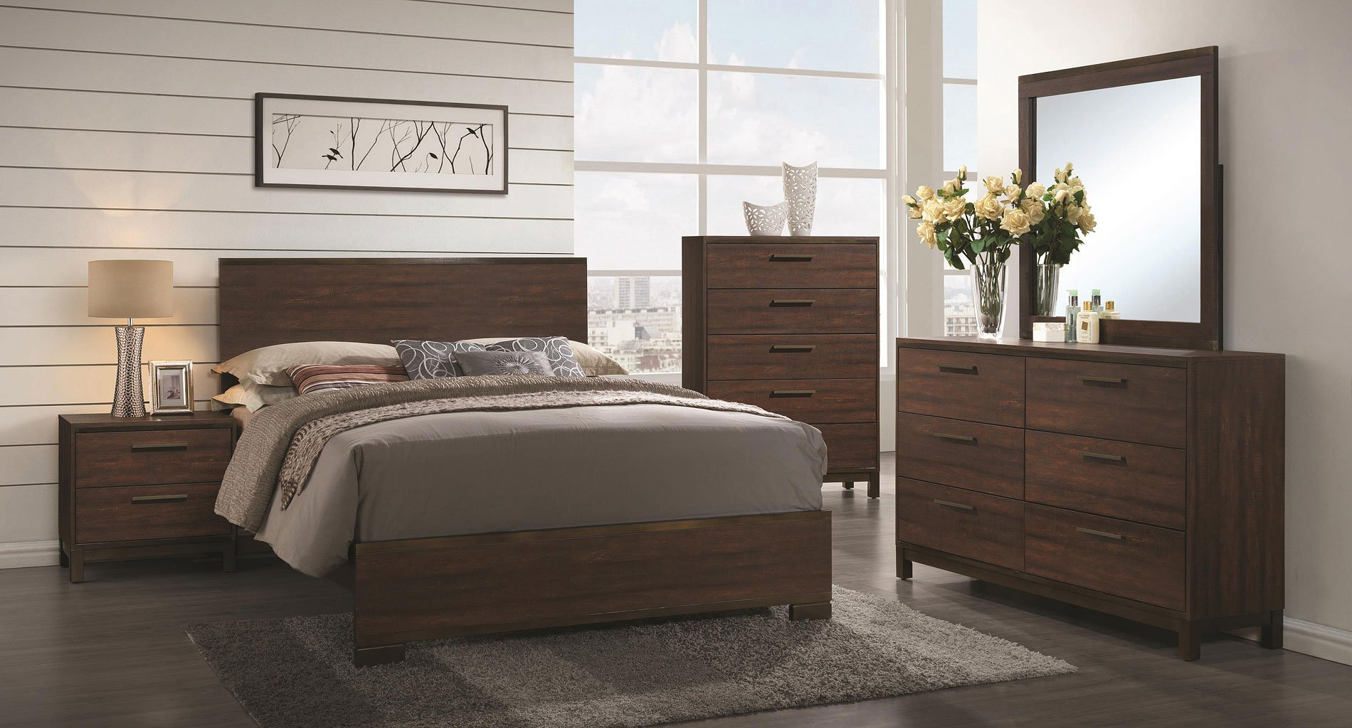 Edmonton Panel Bedroom Set