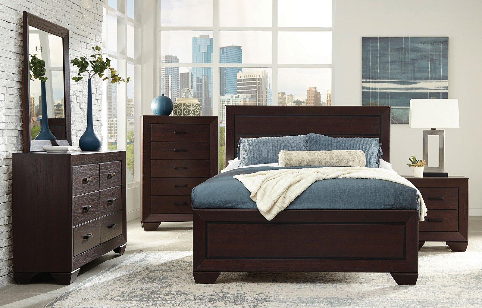 Fenbrook panel bedroom set coaster furniture 1 reviews furniture cart for Coaster bedroom furniture reviews