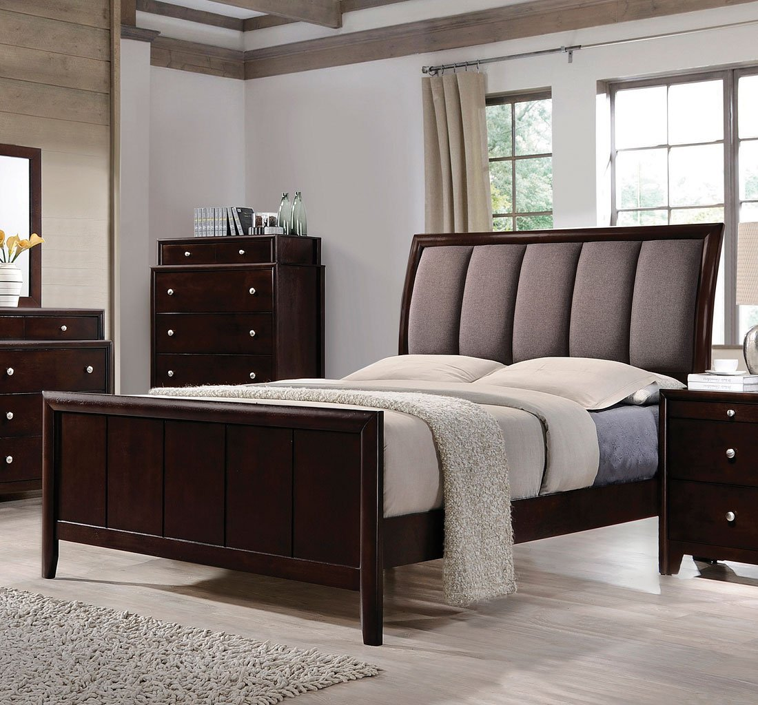 50 Sleigh Bed Inspirations For A Cozy Modern Bedroom: Madison Sleigh Bed Coaster Furniture