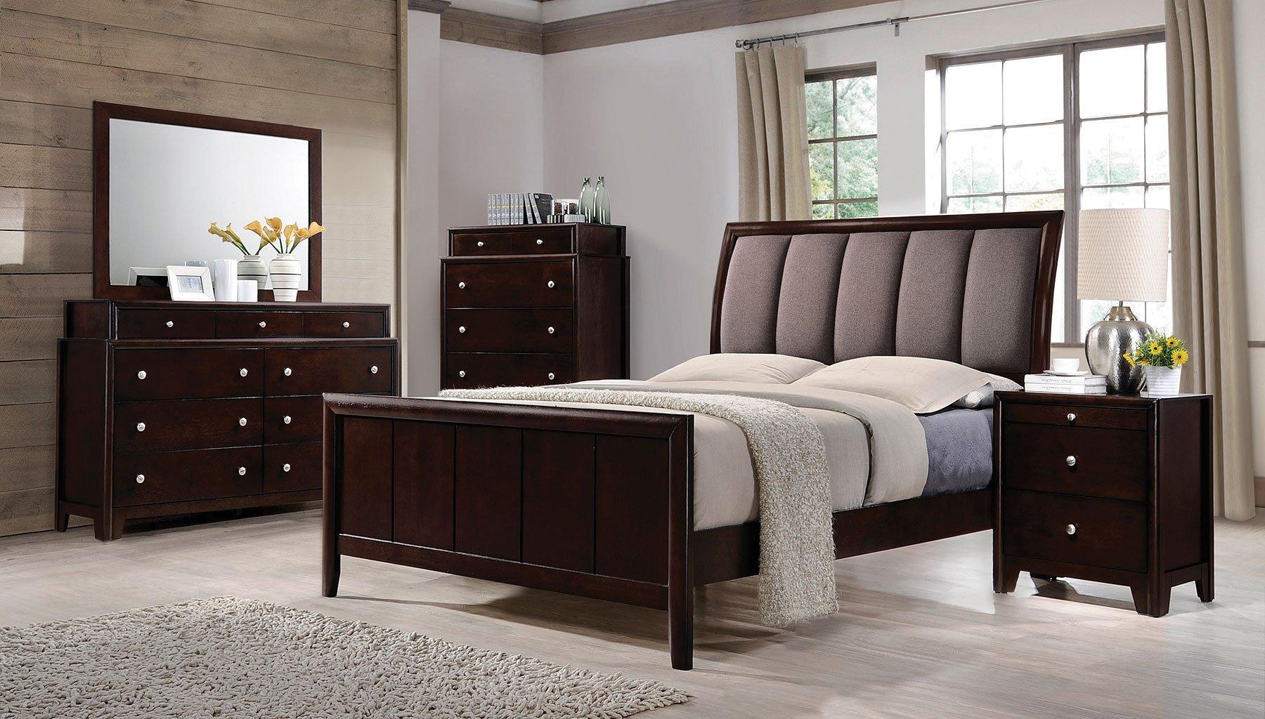 madison sleigh bedroom set coaster furniture  furniture cart