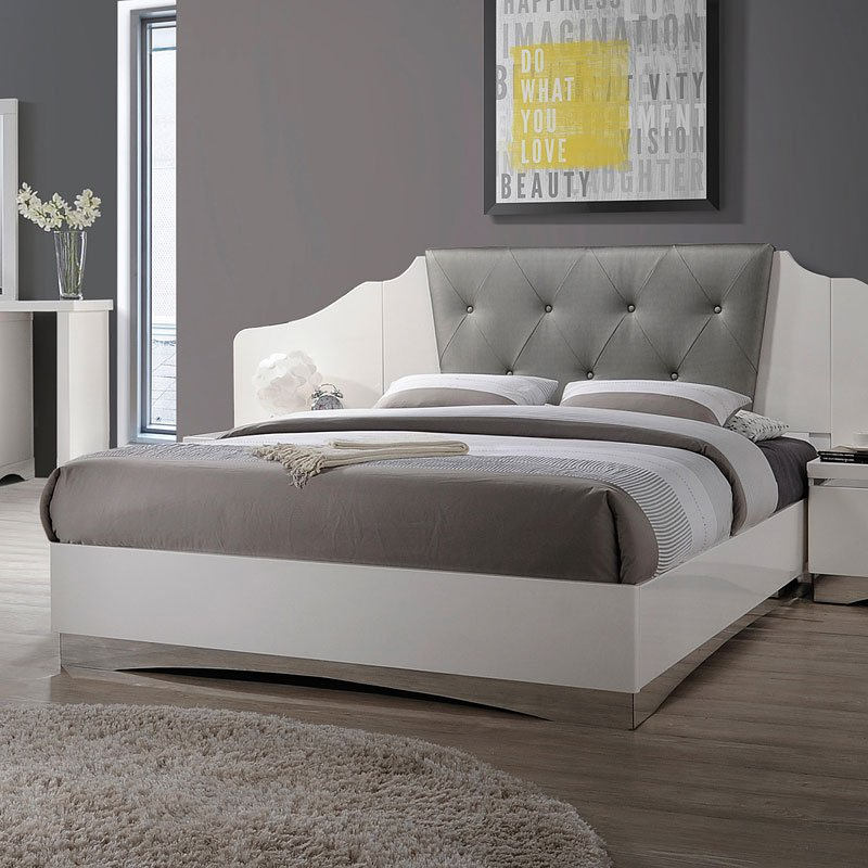 Alessandro Bed Glossy White Coaster Furniture Furniture Cart