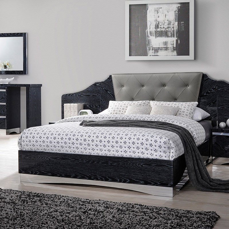 Alessandro Bed Glossy Black Coaster Furniture Furniture Cart