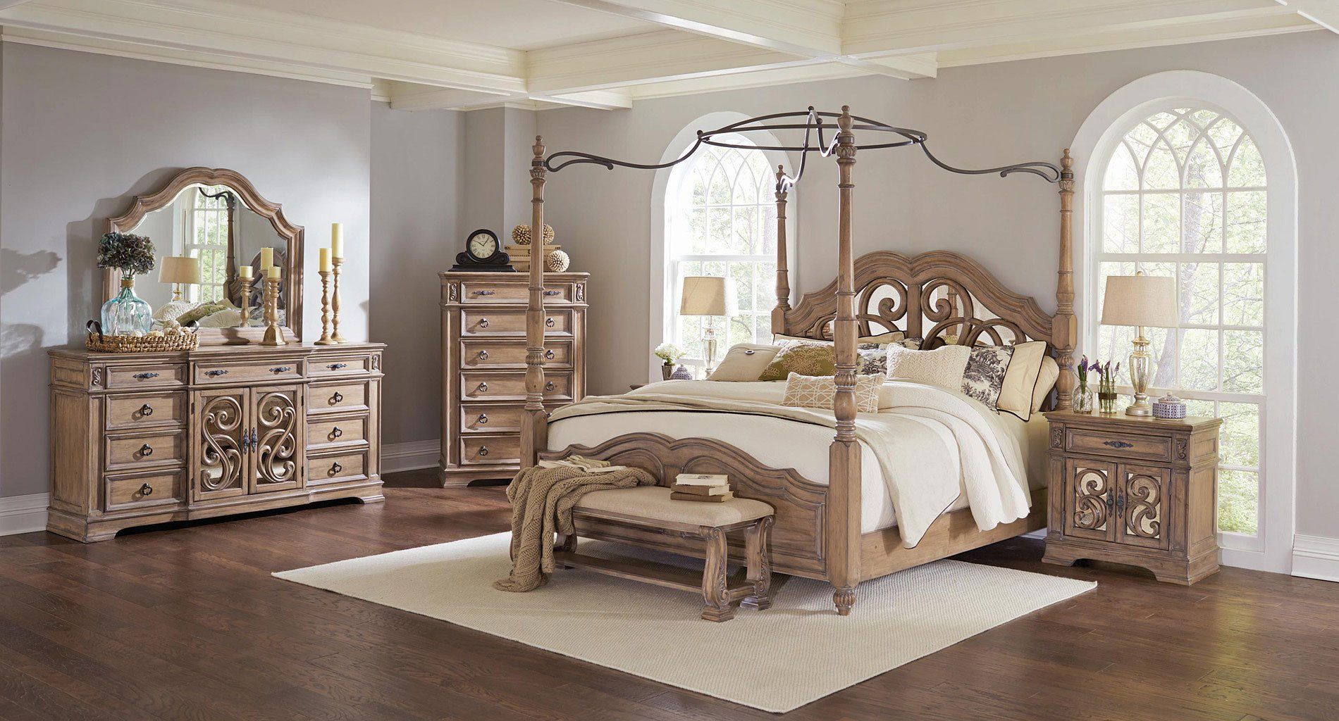 Canopy Bed.Ilana Canopy Bedroom Set