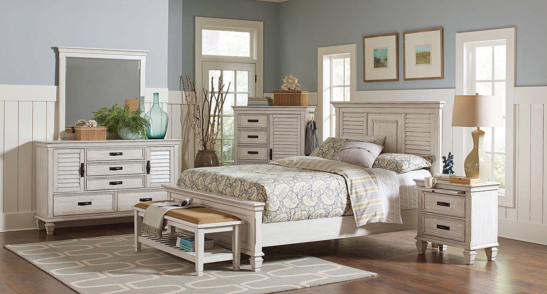 Liza panel bedroom set coaster furniture 2 reviews furniture cart for Coaster bedroom furniture reviews
