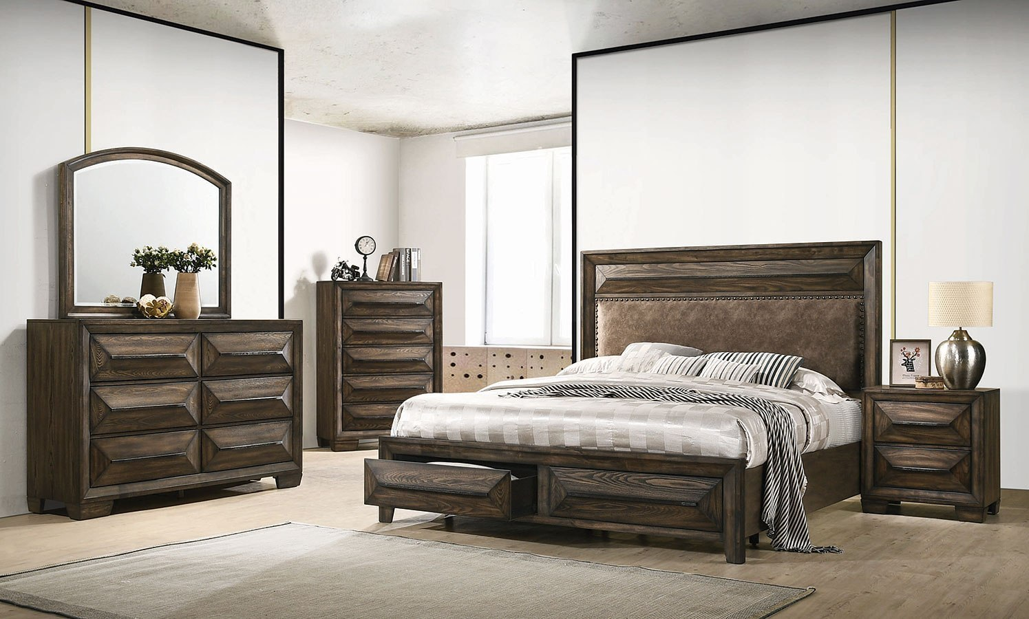 Preston Storage Bedroom Set Coaster Furniture Furniture Cart