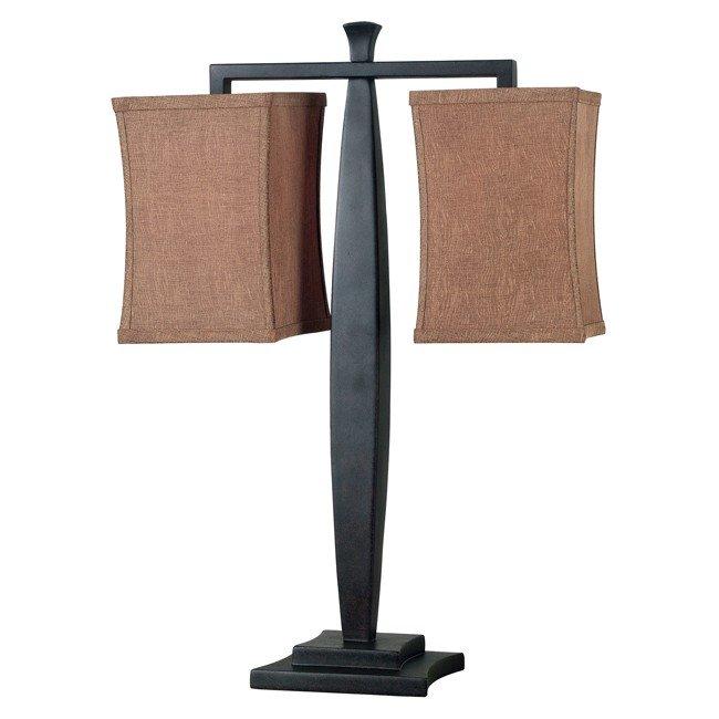 Balance 2 Light Table Lamp (Golden Flecked Bronze)
