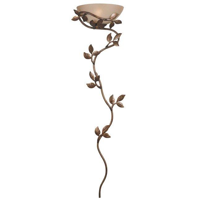 Flower Vine Wallchiere (Golden Bronze)