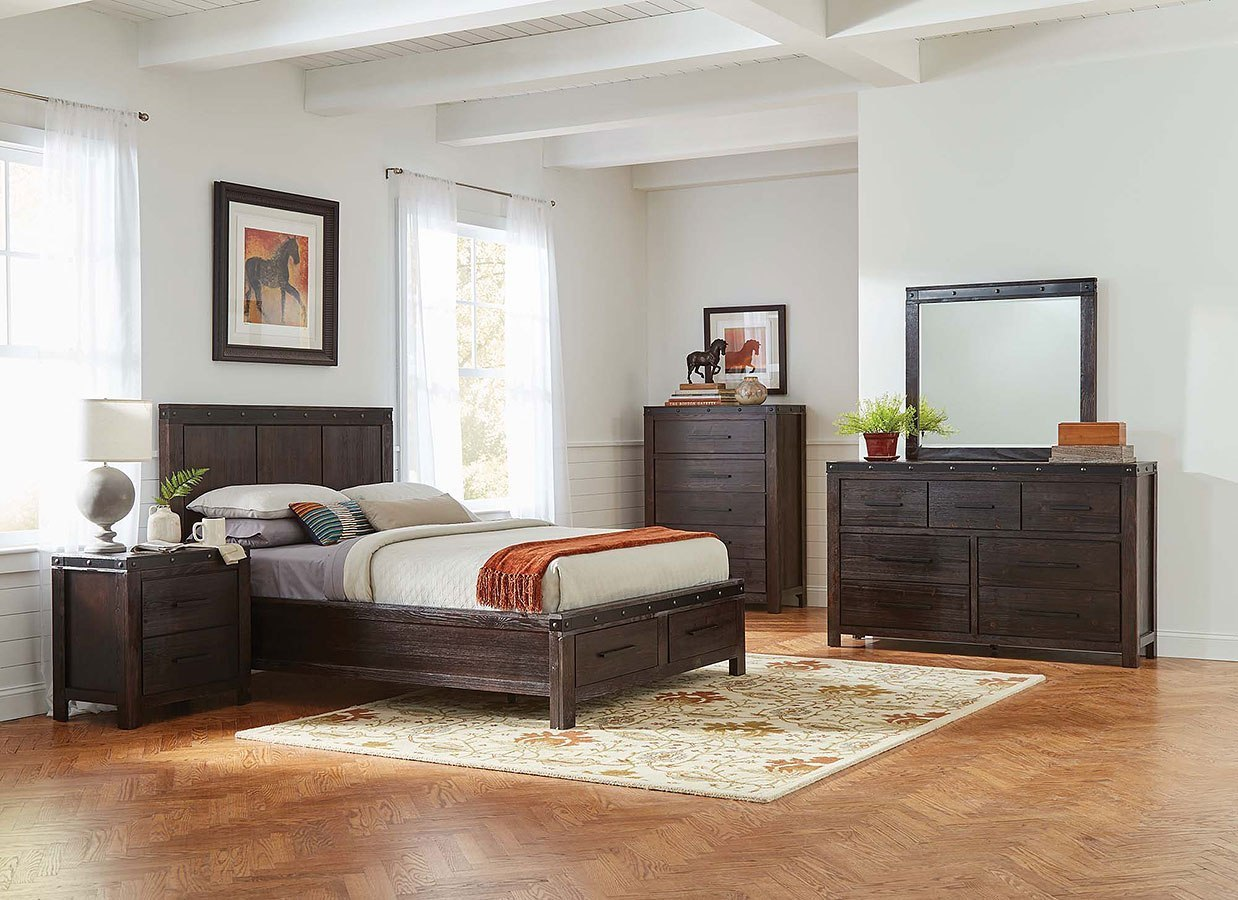 Barkley Storage Bedroom Set Coaster Furniture   Furniture Cart