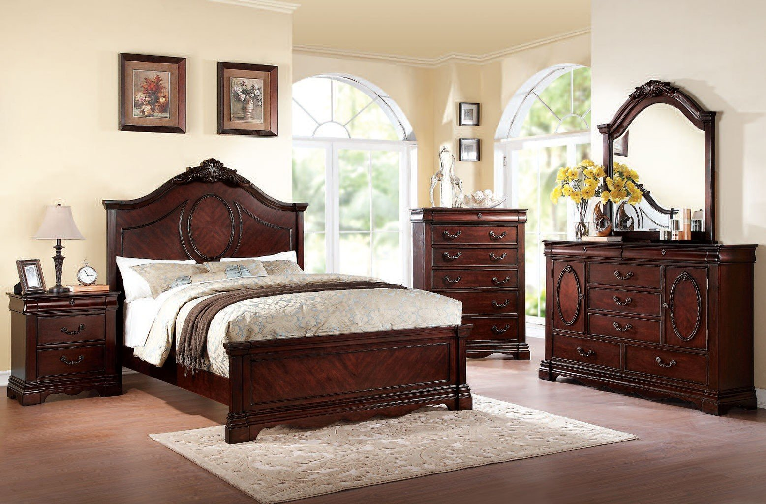 Beverly Bedroom Set W/ Estrella Bed Acme Furniture