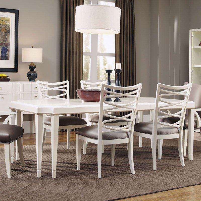 Cosmopolitan Rectangular Dining Table Parchment Art Furniture Cart
