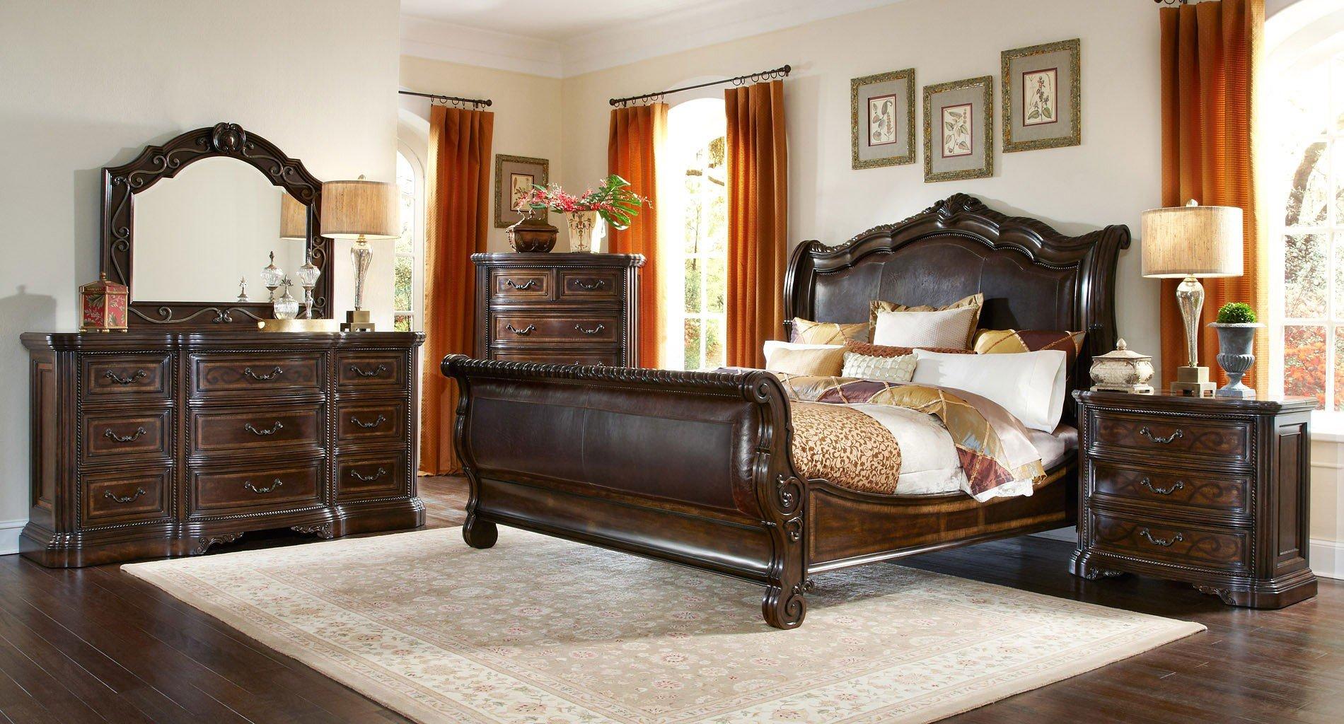 Valencia Sleigh Bedroom Set