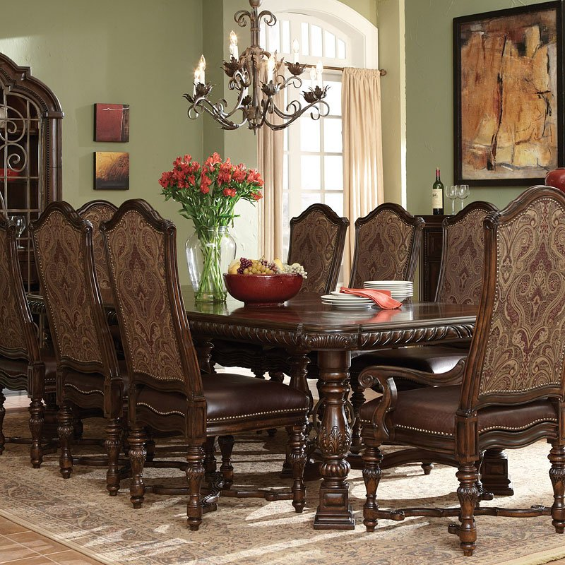 Valencia Rectangular Dining Table Art Furniture Furniture Cart