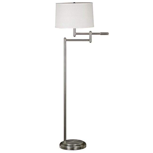 Theta Swing Arm Floor Lamp (Brushed Steel)