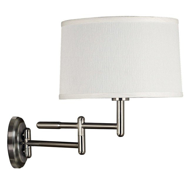 Theta Wall Swing Arm Lamp (Brushed Steel)