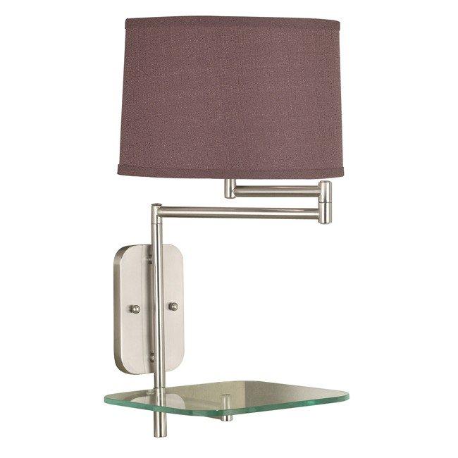 Tabula Wall Swing Arm Lamp (Brushed Steel)